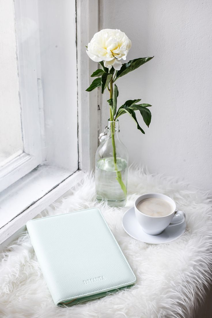 Morning essentials: cup of coffee and La Mania leather organizer in pastel pistachio colour. We absolutely ‪#‎loveit‬ <3 #LaMania #Accessories #photo #agnieszkakulesza