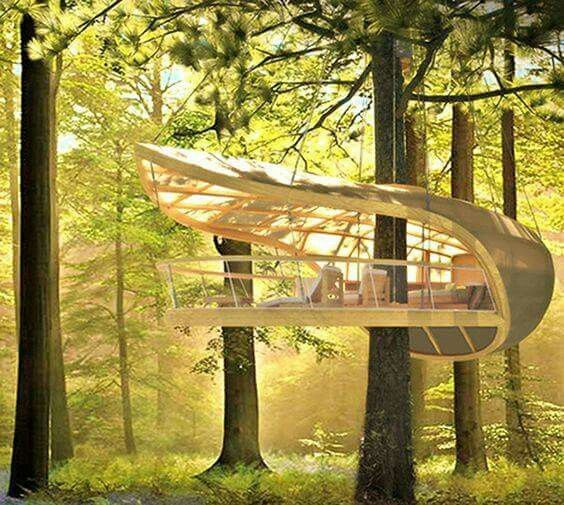 The Toronto based firm Farrow Partnership Architects designed and built a unique, modern tree house.  -The LA Team  www.landarchs.com