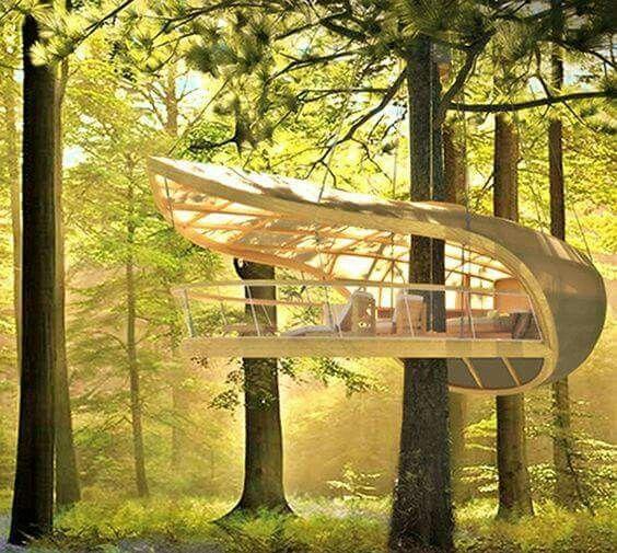 The Toronto based firm Farrow Partnership Architects designed and built a unique, modern tree house.  -The LA Team  www.landarchs.com