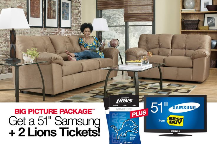 "Calder Big Picture Package with 51"" Samsung & 2 Detroit Lions Tickets from Gardner-White Furniture"