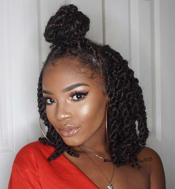 23 Hot Marley Twist Hairstyles To Try Right Now Stayglam Twist Braid Hairstyles Marley Twist Hairstyles Twist Braid Styles
