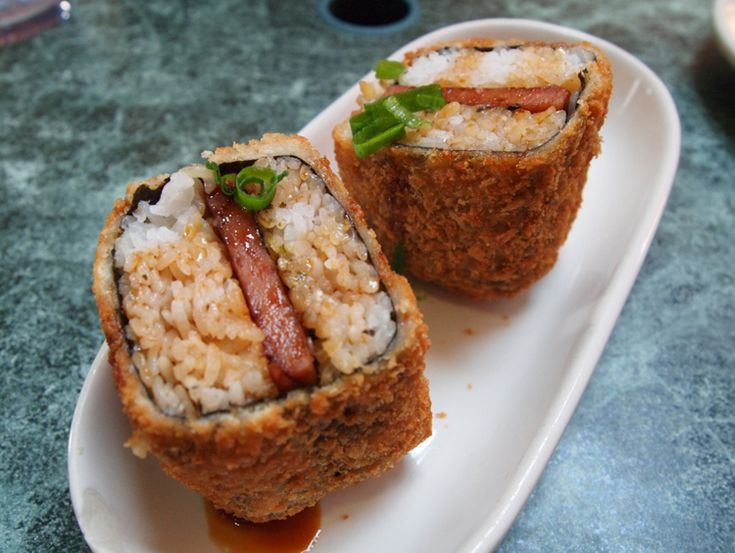 Da Kitchen Fried Spam Musubi Recipe