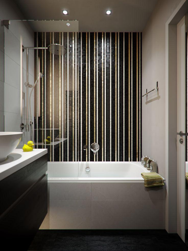 Outstanding Chrome Head Shower Bathtub And Sweet Grey Tiles Bathroom  Backsplash And Single White Bowl Sink