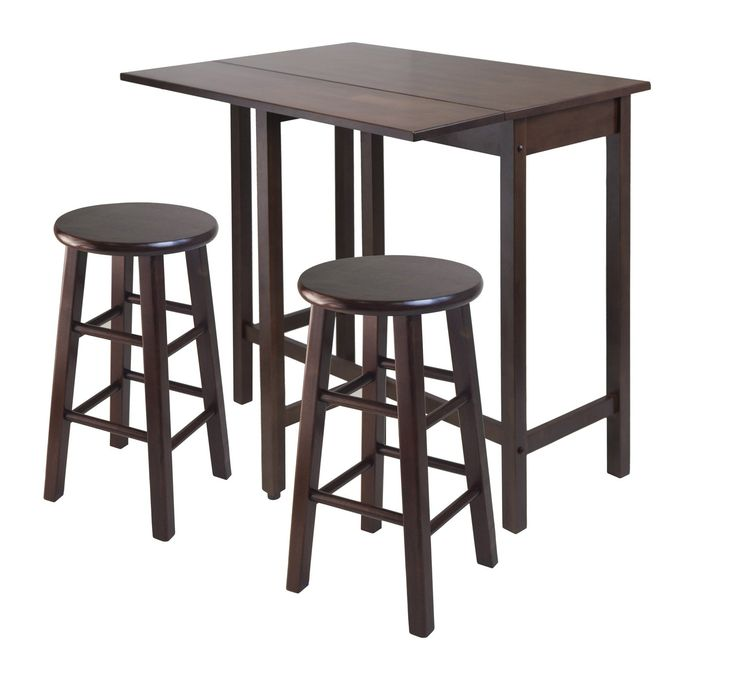 Winsome Wood Lynnwood Drop Leaf Island Table with 2 Square Legs Stool Walnut. Winsome Wood Lynnwood Drop Leaf Island Table with 2 Square Legs Stool Walnut