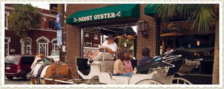 Noisy Oyster Downtown Charleston Location - Nice location open to the street - food on a par with most chain seafood restaurants.