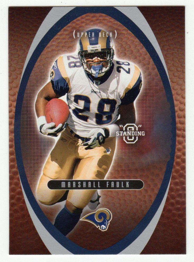 Marshall Faulk # 32 - 2003 Upper Deck Standing O Football