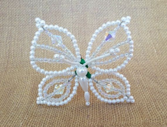 Tembleque Panameños - horquilla - mariposa blanca pelo Pin - mariposa blanca - Pollera - pelo blanco accesorio - mariposa perno de pelo - Panamá
