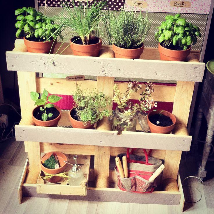 17 meilleures id es propos de palette de jardin d 39 herbes for Petit jardin d interieur