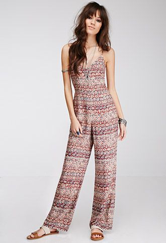 Southwestern-Printed Jumpsuit | FOREVER21 - 2000135707