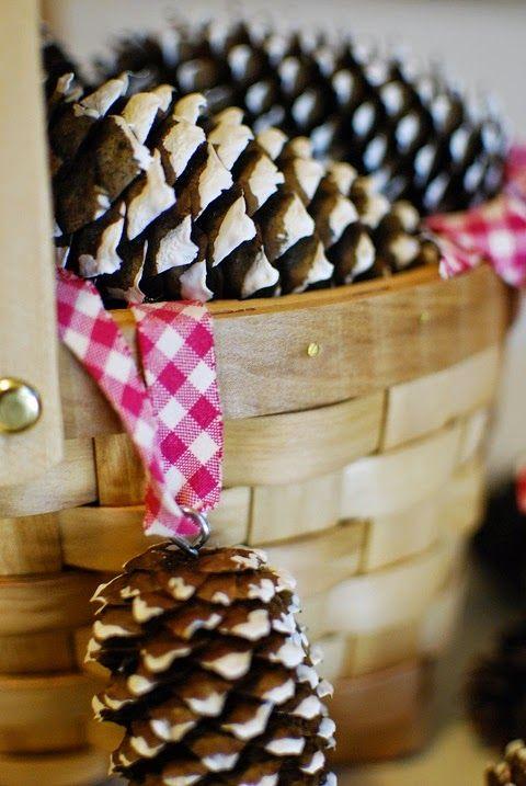 DecoDreamer's Diary: DIY Christmas tree ornament, DIY joulukuusenkoriste, cones, kävyt