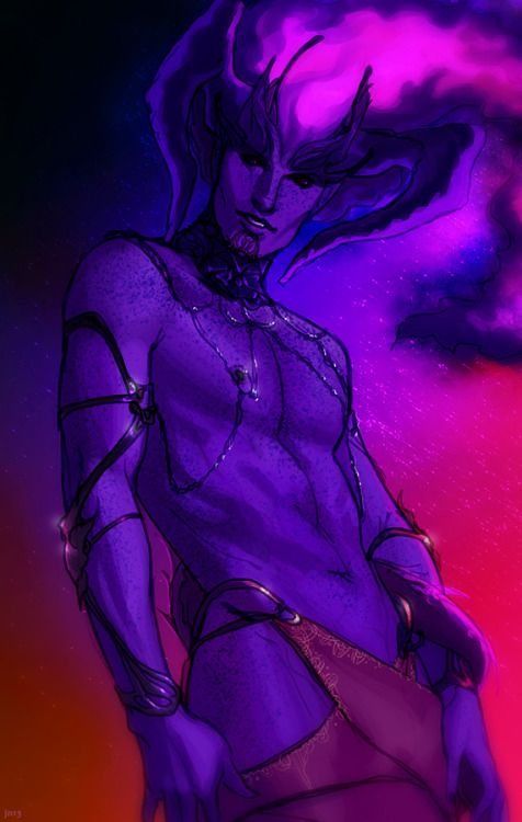 cassandrashipsit:  confessionsofadragonageaddict:  desire demon by ~bluewickedbehemoth  Yes…how come there are no male desire demons in Dragon Age  More male desire demons on my dash.