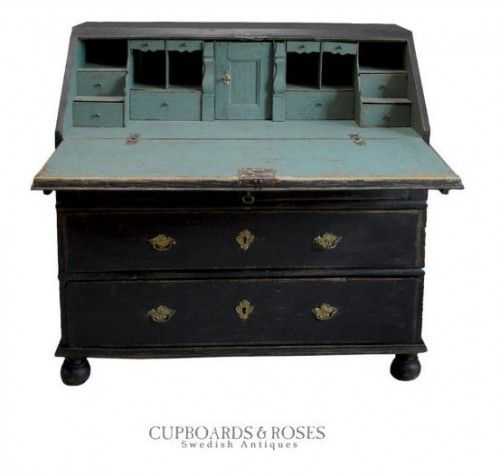 Early Swedish Writing Desk 500x476 5 Pro Painting Tips For Black Furniture
