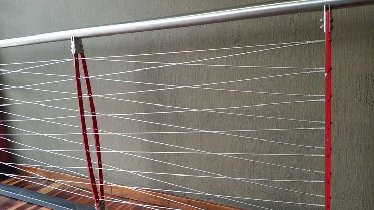 Cable steel ballustrades #design #interior