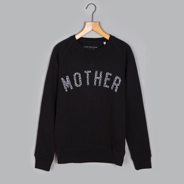 The Leopard Print MOTHER 'Boyfriend' Sweatshirt <br> SM x Tiba+Marl