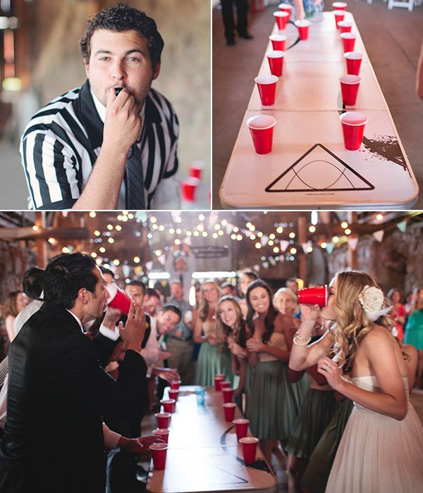 Group Games: Flip Cup - while this isn't something I'm planning to do at the wedding... um... this would be cool.