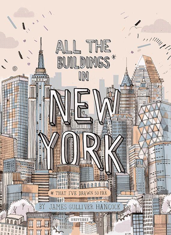 Se trata de All the buildings of New York, un encantador viaje ilustrado por la ciudad de Nueva York, a través de sus edificios. Su autor, el ilustrador y diseñador James Gulliver Hancock, ha dedicado gran parte de su tiempo a ilustrar una gran cantidad de edificios de la ciudad y los ha reunido en un libro lleno de color y de detalles únicos.