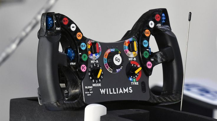 Williams FW40 steering wheel at Interlagos, São Paulo, Brazil - Friday 10 November 2017