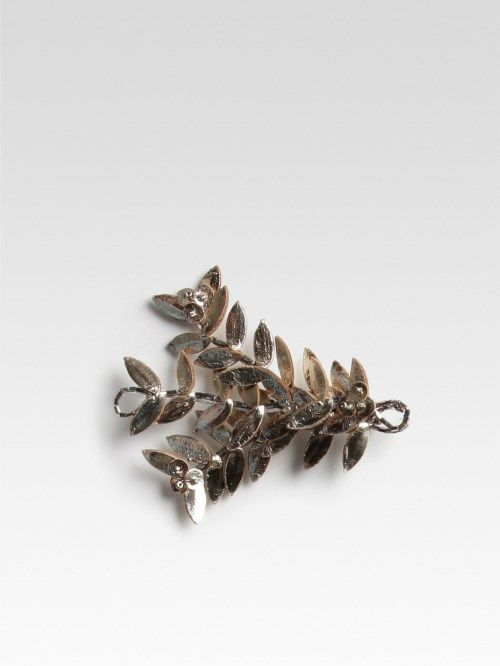 JUST ARRIVED at Jennyfer Long | Leather Leaf Pin | New Collection | Soon to be arriving online at www.hossintropia.com | Pin made up of metallic leather leafs with beads design | Back pin fastening | £37.50 | #hoss #intropia #justarrived #leather #leaf #pin #metallic #fashion #woodbridge #suffolk | Jennyfer Long | Woodbridge | Suffolk | UK