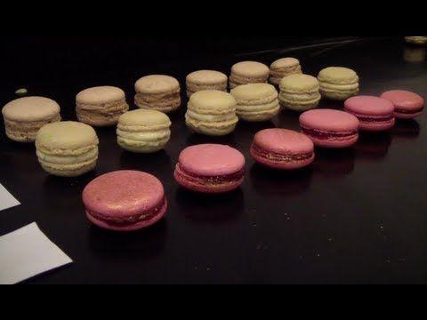 Macarons Tonka Framboise [TUTO] (English subtitles available) - YouTube
