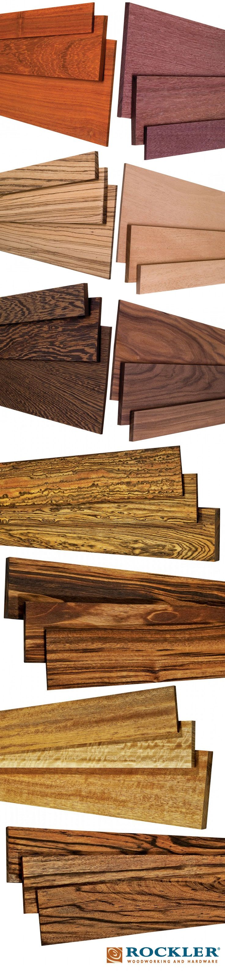 Natural beauty. Check out the unfinished nature of these different wood species here: http://www.rockler.com/wood/exotic-lumber - All responsibly sourced because woodworking is our passion.