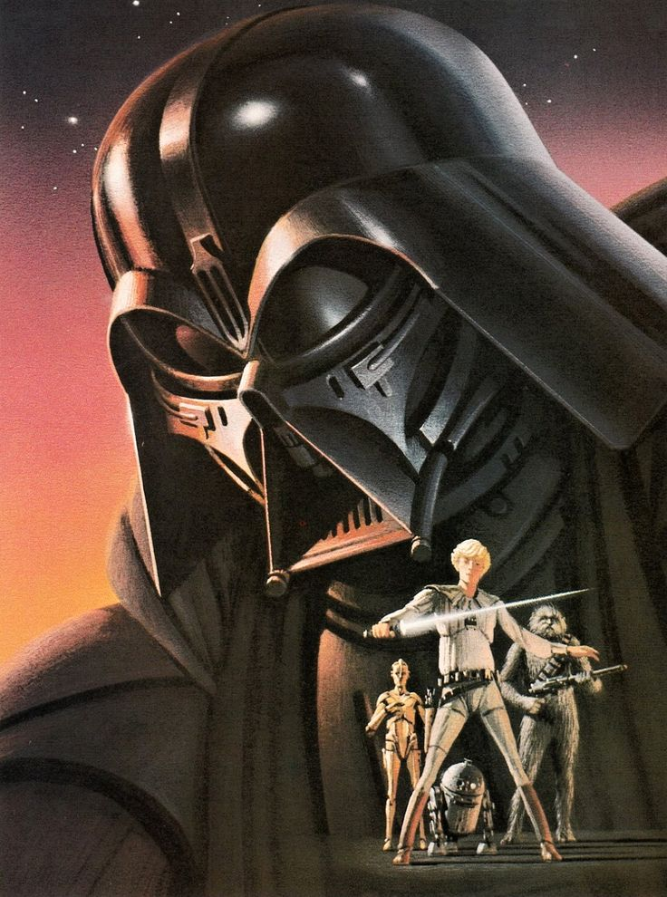 Star Wars, 1977 - Ralph McQuarrie, artist, digital art, paintings,
