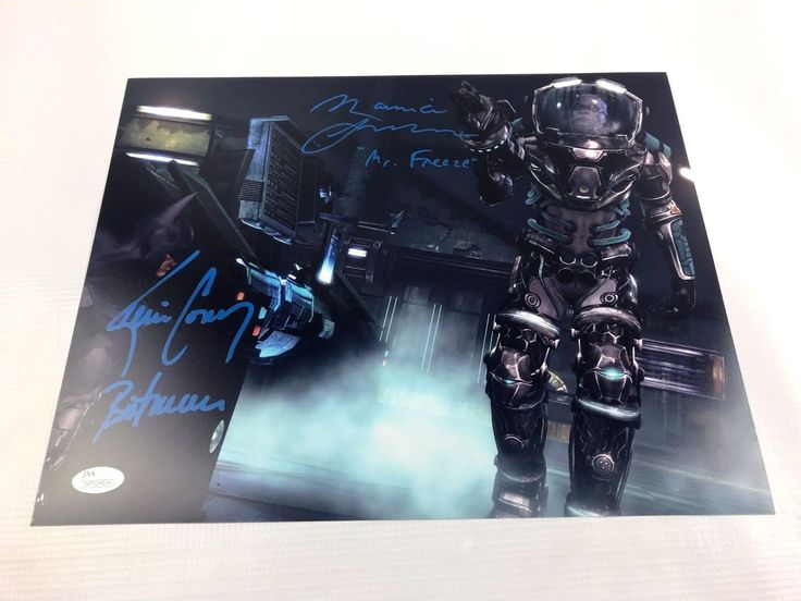 Maurice LaMarche Kevin Conroy Autograph Mr. Freeze 11x14 Photo JSA Batman