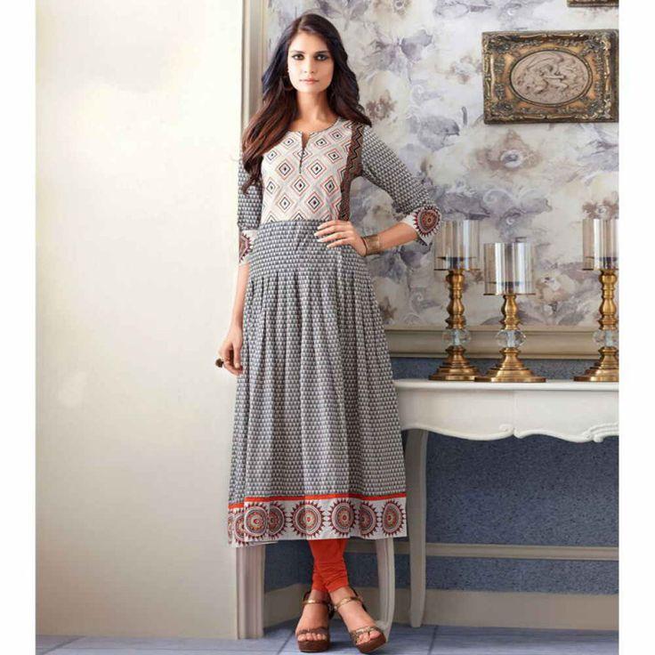 Cotton Multicolor Printed Aline Style Kurti #womensfashion #cottonkurtis #printedkurtis #alinekurtis #anarkalikurti #casualkurtis #shopping #fashion #kurtis