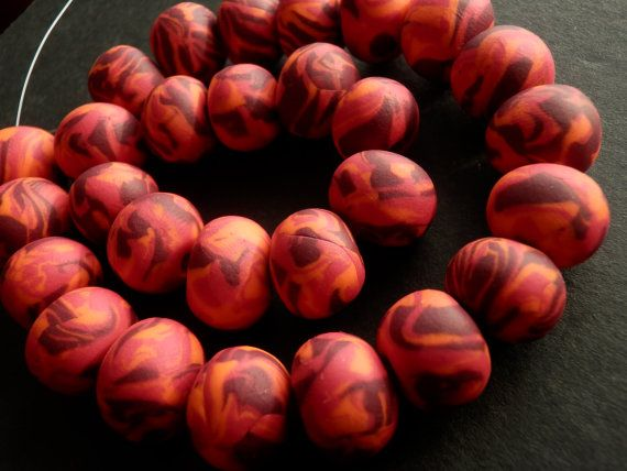 Set of 28 big red orange and purple handmade by sillylittlesheep, $16.00