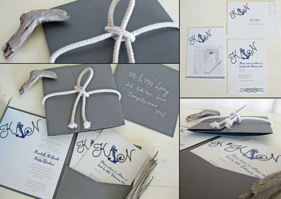 Another #nautical wedding invite idea.