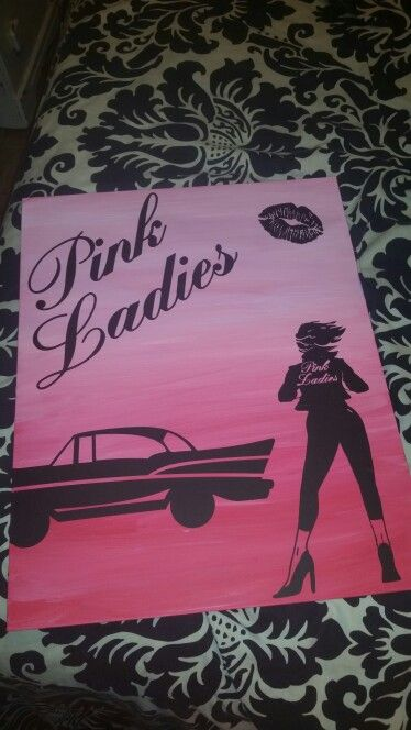Pink ladies grease silhouette