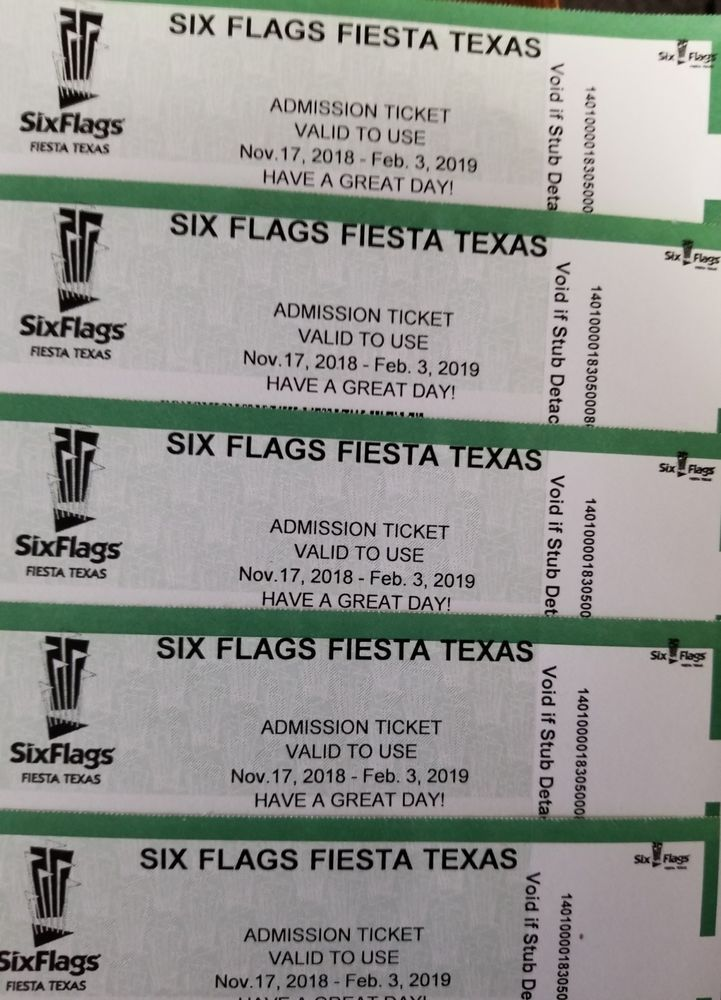 Six Flags Fiesta Texas Admission Ticket One Day Six Flags Fiesta Texas Admission Ticket Six Flags