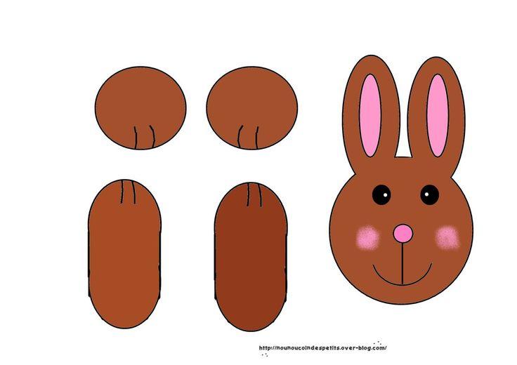 """* .. Pâques .. """" petit lapin """"( filtre a café ) 2-3"""