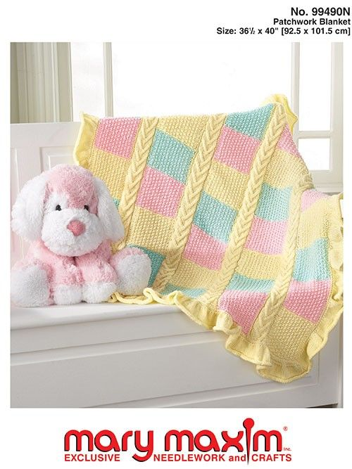 Knit a baby blanket using this pattern.