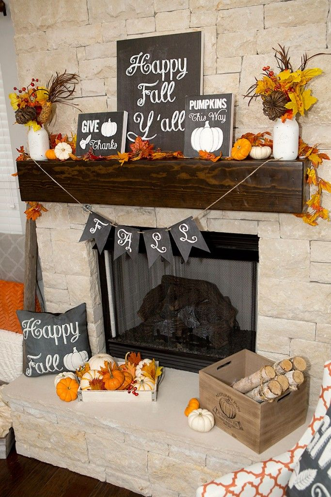 Free Fall Chalkboard Printables fall mantel decor