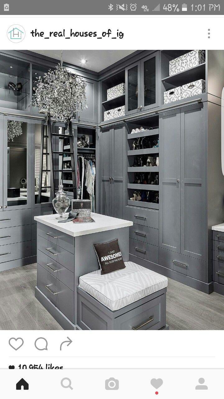 Gray closet More