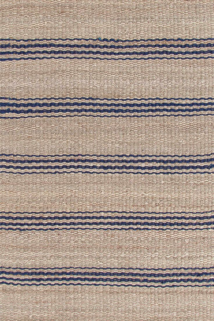 Indigo Blue Amp Tan Striped Jute Rugs Dash Amp Albert Jute
