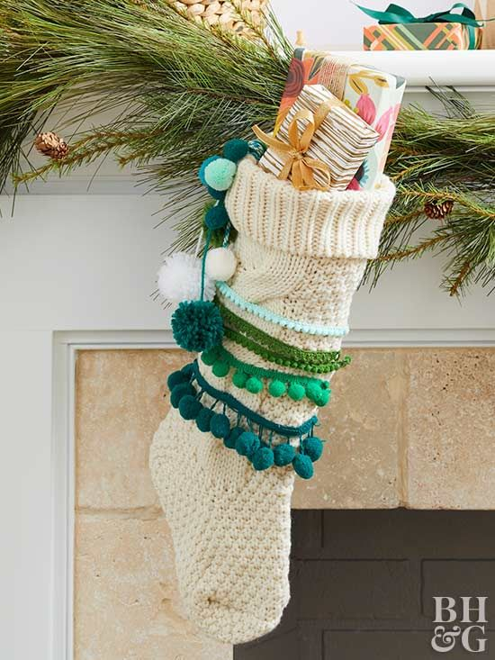 These whimsical, no-sew stockings are the perfect hiding place for Santa's surprise gifts.