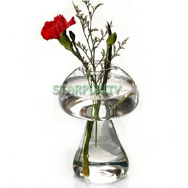 Mushroom Forma Vetro Fiore Flora vaso idroponico Container Bar della casa della festa decorazione di cerimonia nuziale del regalo di compleanno