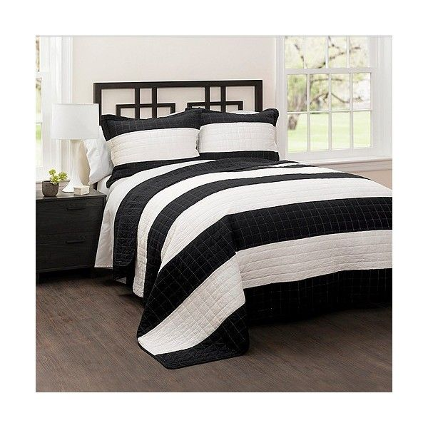 stripe quilt 3 piece set 90 liked on polyvore featuring home bed king size