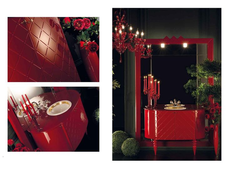 Topex Armadi Art Carmen Red Bath Vanity From Our Avantgarde Collection!
