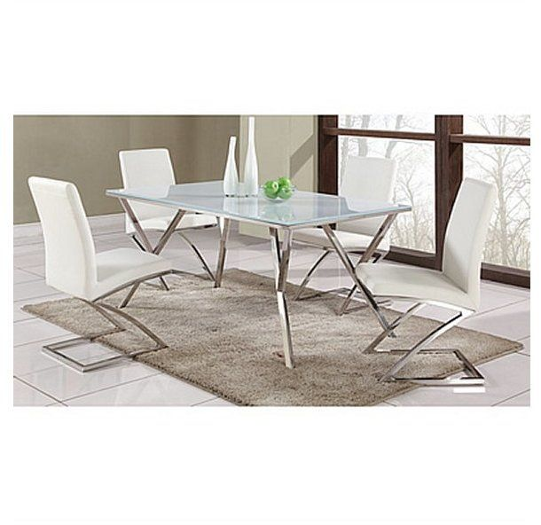 Dining Sets Cream Leather Chairs Coaster Set of 2 Parson Dining