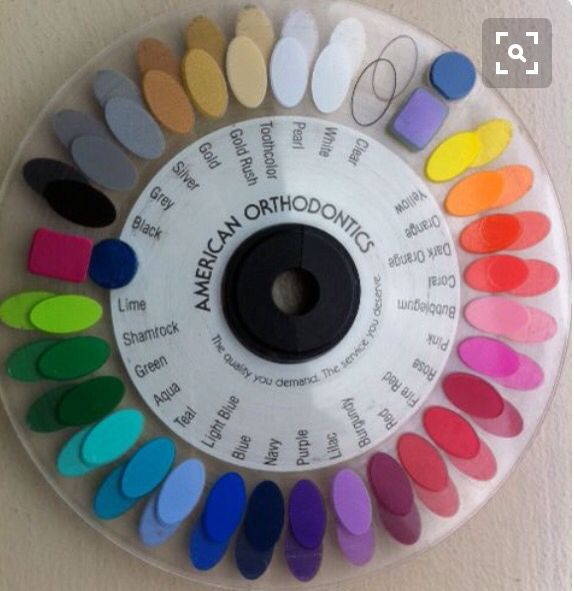 This is the exact one at my orthodontist office... Might help me pick my color for next time.