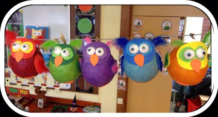 Owl craft (lantern?) Eule