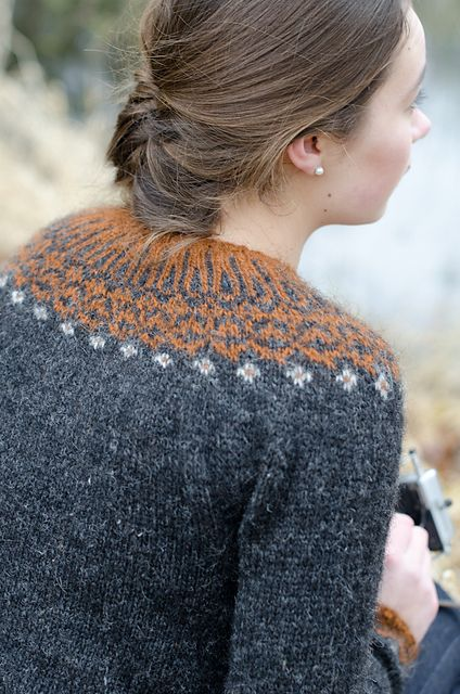 Top-down Icelandic Sweater by Ragnheiður Eiríksdóttir, as knit by KCee