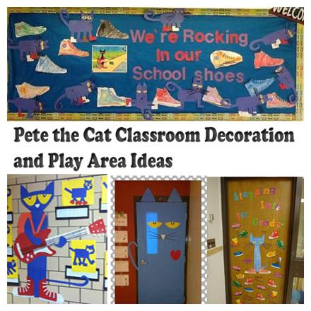 Pete the Cat Classroom Decoration and Bulletin Board Ideas  Pete the Cat Rocking in My School Shoes Bulletin Board from Ms Reed.