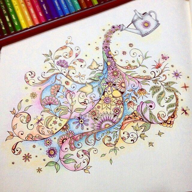 Partilhado Com Instagrab Adult ColoringColoring BooksJohanna Basford Secret GardenGood