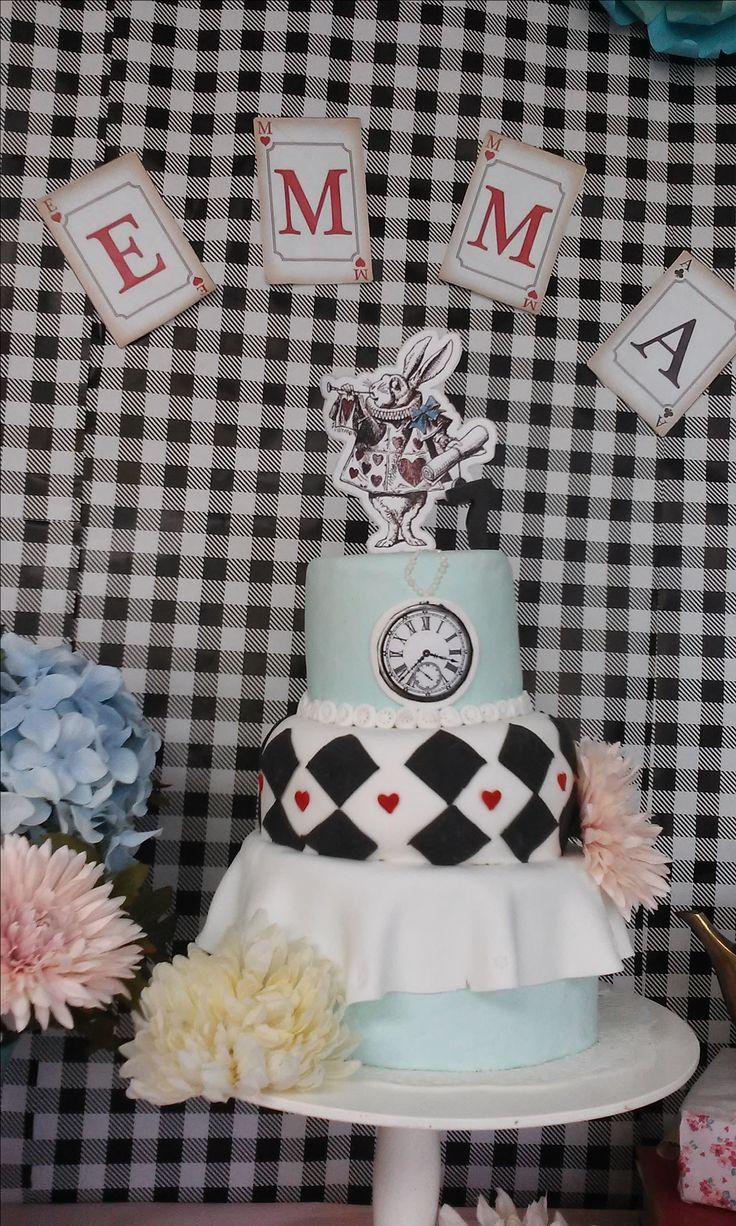 Alicia en el país de las maravillas- torta Alice in Wonderland- Cake Alicia no pais das maravilhas- bolo