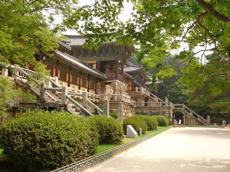 Le temple de Bulguksa, sans doute un des plus beau de Corée