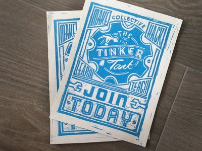 Block prints - Flyer Design: 50 Brilliant Examples You Can Learn From – Design School
