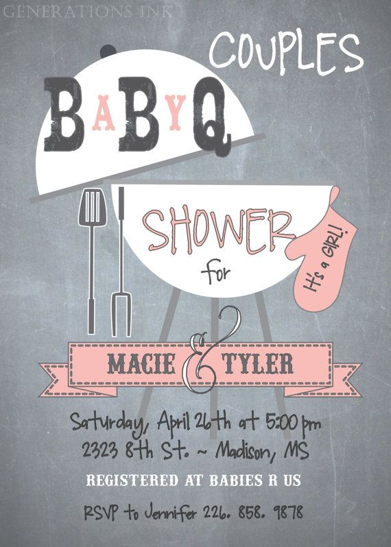 Couples Baby Q Shower Invitation / choose a by GenerationsInk